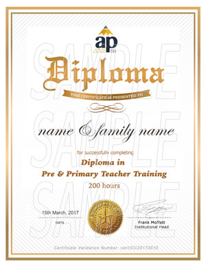 Diploma in Pre and Primary Teacher Training
